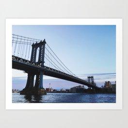 MANHATTAN BRIDGE AT DUSK Art Print