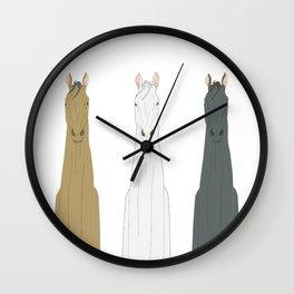 Triple Horses Wall Clock