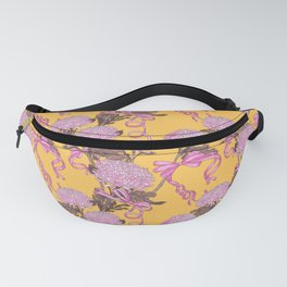 Flower and Ribbon _ yellow Fanny Pack