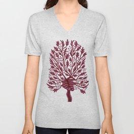 Skeleton Hawthorn Tree White Unisex V-Neck
