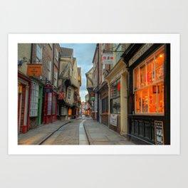 York Shambles HDR  Art Print