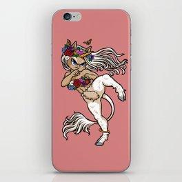 Faun Fighter (unicorn) iPhone Skin