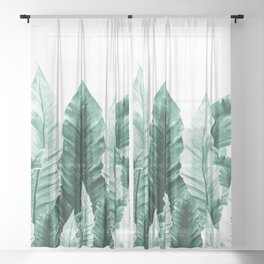 Underwater Leaves Vibes #2 #decor #art #society6 Sheer Curtain