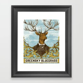 GREENSKY BLUEGRASS POSTER Framed Art Print
