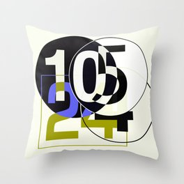 SRC Preparatins Race Numbers Two Throw Pillow