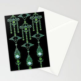 CASTELLINA JEWELS: BLUE GREEN DREAM Stationery Cards