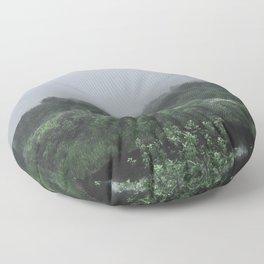 Misty River Morning Floor Pillow