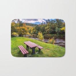 Snowdonia River Autumn Bath Mat