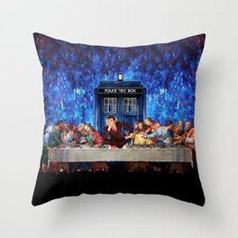 Tardis doctor who lost in the last supper iPhone 4 4s 5 5c 6, pillow case, mugs and tshirt Throw Pillow