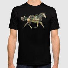 Wild Horse Surrealism MEDIUM Mens Fitted Tee Black