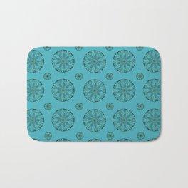 Green Sea Urchin - Mini Mandala Art Bath Mat