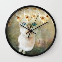 games Wall Clocks featuring Hunger Games by Sandy Broenimann