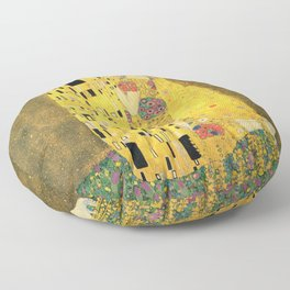 The Kiss - Gustav Klimt Floor Pillow