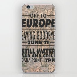 Off To Europe iPhone Skin