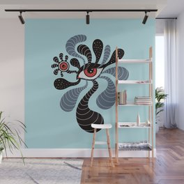 Abstract Surreal Double Red Eye Wall Mural