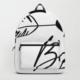 Blessed Mama boho black lettering Backpack