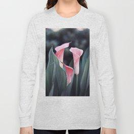 Pink Calla Flowers Long Sleeve T-shirt