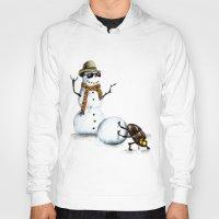 snowman Hoodies featuring Snowman by Anna Shell