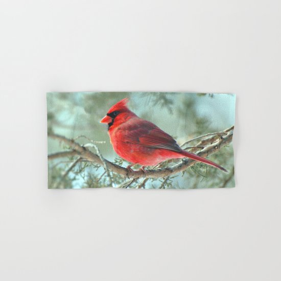 Dreamy Morning (Northern Cardinal) Hand & Bath Towel