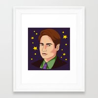 mulder Framed Art Prints featuring Mulder Yes by fin apollo