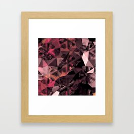 Lavender Red Brown Abstract Geometric Triangle Polygon Seedpod  Illustration Framed Art Print