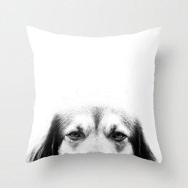 Dog portrait in black & white Throw Pillow