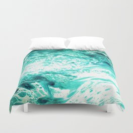 Teal Marble Duvet Cover