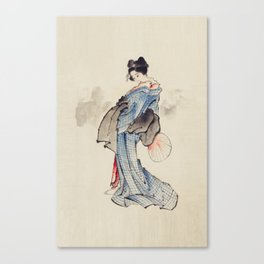 Geisha by Katsushita Hokusai Canvas Print