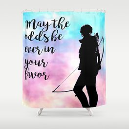 May the odds be ever in your favor Shower Curtain