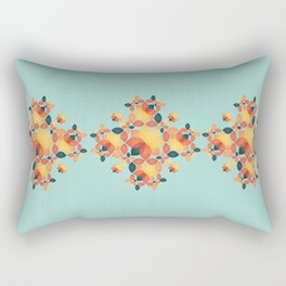 Orange Garden Pattern Rectangular Pillow