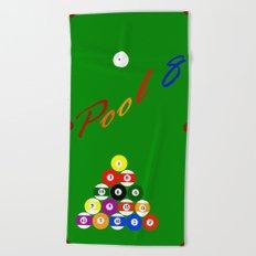 Pool 8 Beach Towel