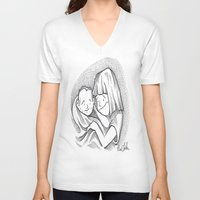 cuddle V-neck T-shirts featuring Cuddle by Mark Holden
