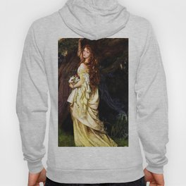 Classical Masterpiece: Ophelia (And He Will Not Come Back Again) by Arthur Hughes, circa 1865 Hoody