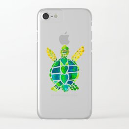 Turtle Love Clear iPhone Case