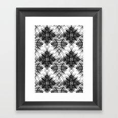 Knives Pattern Framed Art Print