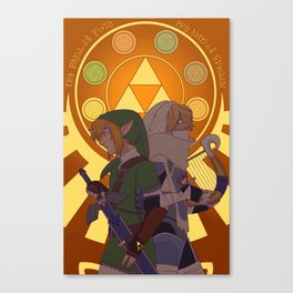 The Hero & The Bard Canvas Print