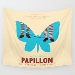 Papillon, Steve McQueen vintage movie poster, retrò playbill, Dustin Hoffman, hollywood film Wall Tapestry