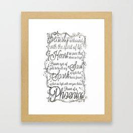 Phoenix Series, Poem in English (Part 2 0f 3) Framed Art Print