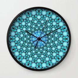 Stellar Cascade Mandala Wall Clock