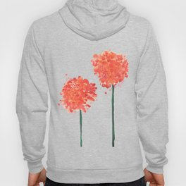 2 abstract geranium flowers Hoody