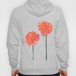 2 abstract geranium flowers Hoody