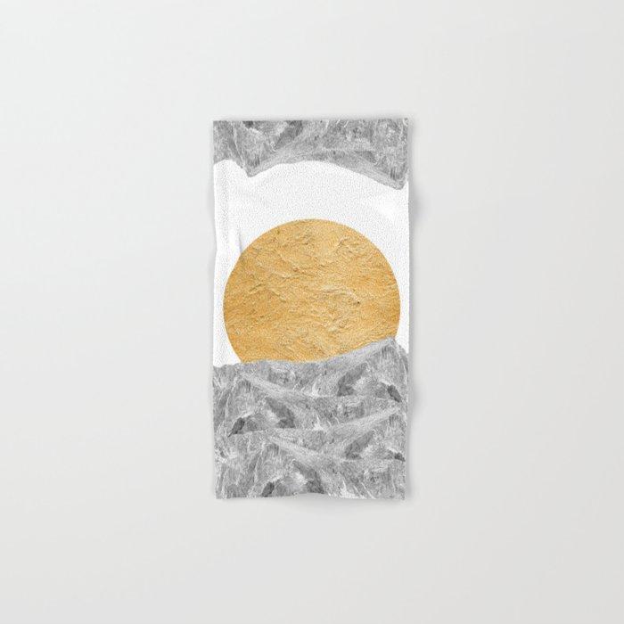 Modern Abstract - Sun and Mountains Hand & Bath Towel
