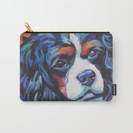 Fun Cavalier King Charles Spaniel Dog bright colorful Pop Art by LEA Carry-All Pouch