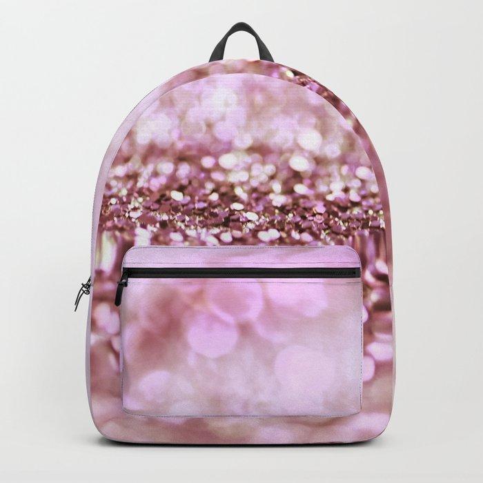 Pink sparkle shiny glitter effect print - Sparkle Valentine Backdrop on #Society6 Backpack