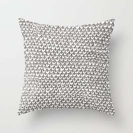 scaley doodle pattern Throw Pillow