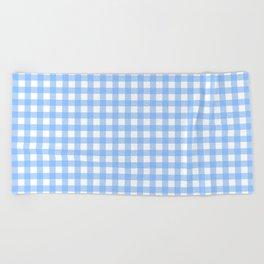 Sky Blue Gingham Beach Towel