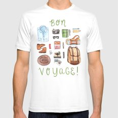 Bon Voyage Mens Fitted Tee MEDIUM White