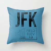 jfk Throw Pillows featuring JFK II by 08 Left