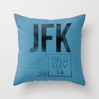 jfk Throw Pillows featuring JFK II by 08 Left