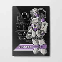 SNES Man Metal Print
